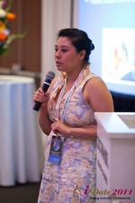 Monica Ohara (Director of Marketing at SpeedDate) at the June 22-24, 2011 Los Angeles Online and Mobile Dating Industry Conference
