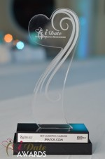 The iDate Award Trophy at the 2012 iDateAwards Ceremony in Miami held in Miami Beach