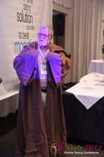Jonathan Crutchley (Chairman at Manhunt) is actually Obi Wan Kenobi! at the 2012 Online and Mobile Dating Industry Conference in Los Angeles