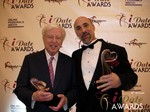 Dr. Warren & Paul Falzone at the 2013 iDateAwards Ceremony in Las Vegas