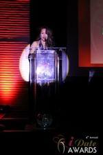 Carmelia Ray announcing Best Up and Coming Dating Site at the 2013 iDateAwards Ceremony in Las Vegas held in Las Vegas