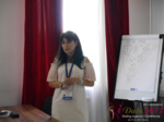 Elena Vygnanyuk at the 2017 Dating Agency Industry Conference in Belarus